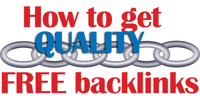 how to get quality free backlinks, text overtop a chain