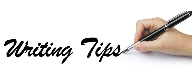 "a hand with using a pen - ""writing tips"""