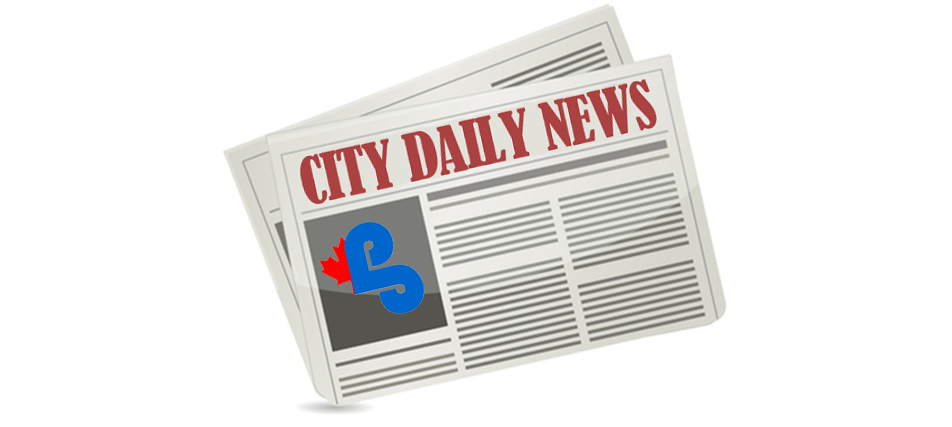 "graphic depiction of a newspaper with ""City Daily News"" headline"