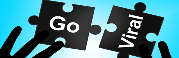Go Viral written on puzzle pieces
