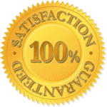 a 100% satisfaction guarantee seal