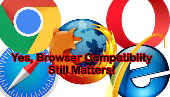 5 common browser logos used as an image