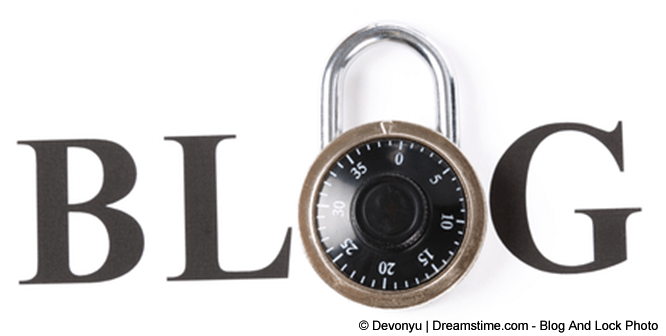 BLOG - text the O is a padlock
