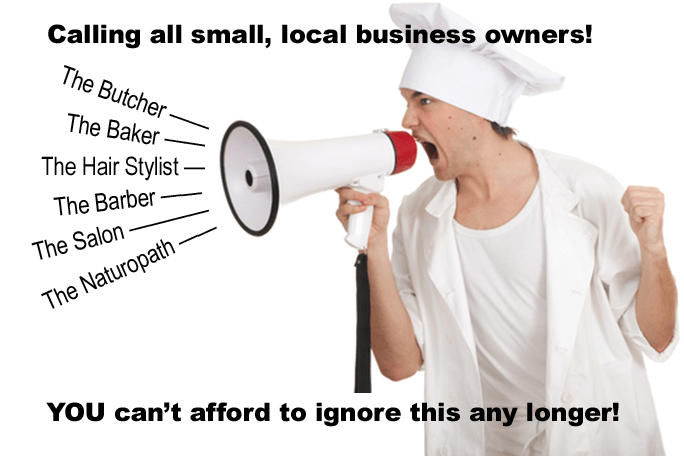 chef shouting - calling all local business owners, you cannot afford to ignore this any longer