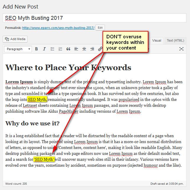 2nd edit window of WordPress post