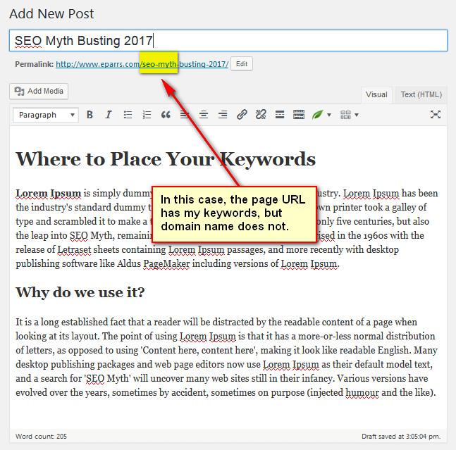 3rd edit window of WordPress post