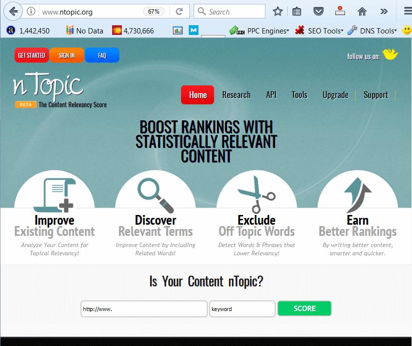 screen print of ntopic.org