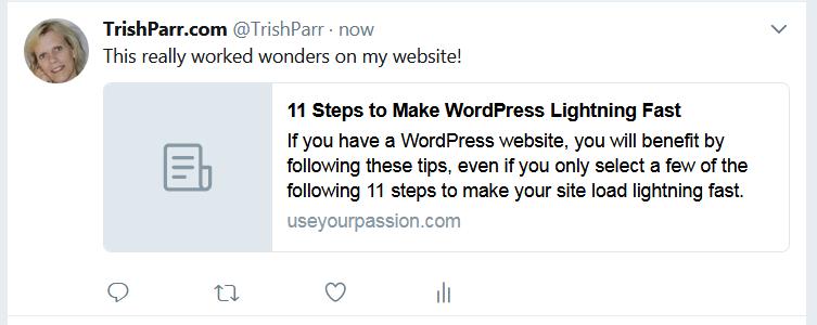 "a ""before"" screen print of my tweeting my post"
