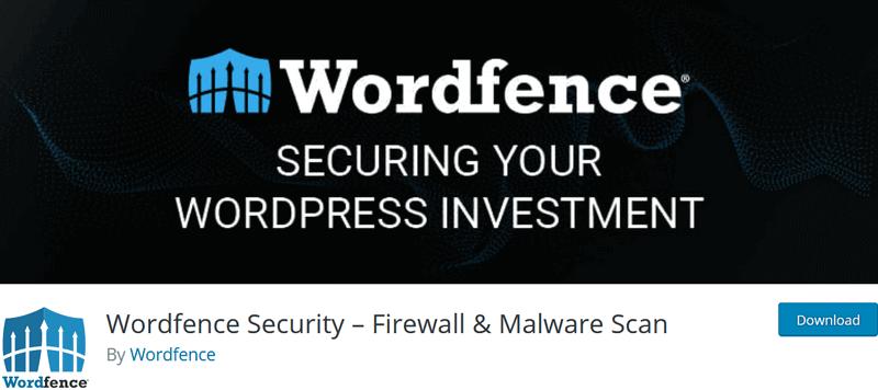 screen print of Wordfence Security plugin