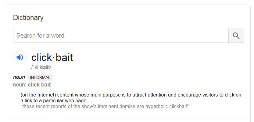 click bait definied