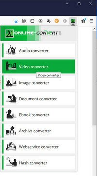 screen print of converting options provided by video.online-convert.com