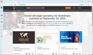screen print of SlideShare