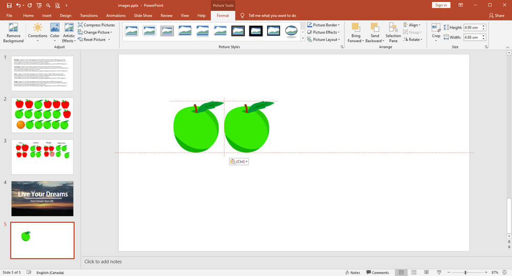image showing how to use gridlines in PowerPoint